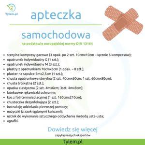 Apteczka samochodowa Tylem.pl co spakować do apteczki